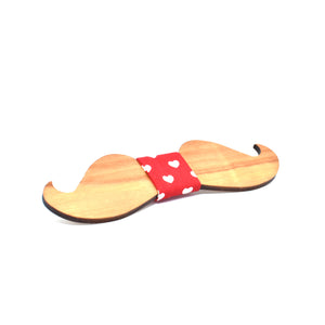 BOW TIE - Cherry mustache - Woodnectar.com (woodnectar, wood, wooden box, cookie stamp, engraving)