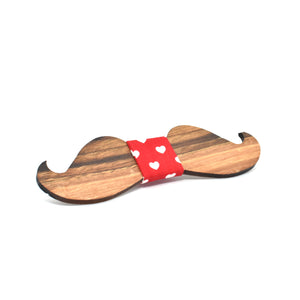 BOW TIE - Walnut mustache - Woodnectar.com (woodnectar, wood, wooden box, cookie stamp, engraving)