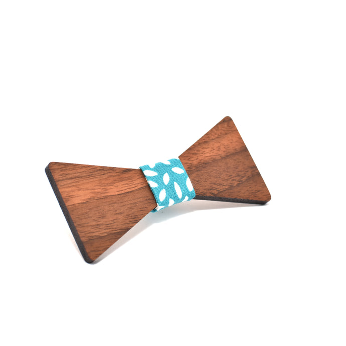 BOW TIE - Walnut (Mini) - Woodnectar.com (woodnectar, wood, wooden box, cookie stamp, engraving)