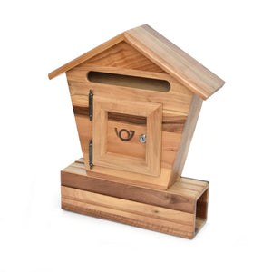 Wooden mailbox - Walnut - Woodnectar.com (woodnectar, wood, wooden box, cookie stamp, engraving)