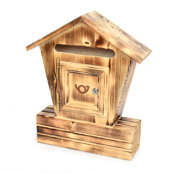 Wooden mailbox - Spruce - Woodnectar.com (woodnectar, wood, wooden box, cookie stamp, engraving)