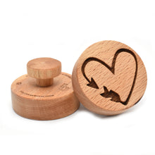 Cookie stamp - Arrow - Woodnectar.com (woodnectar, wood, wooden box, cookie stamp, engraving)