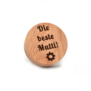 Cookie stamp - Die beste Mutti! - Woodnectar.com (woodnectar, wood, wooden box, cookie stamp, engraving)