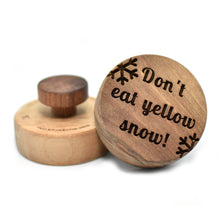Cookie stamp - Don't eat yellow snow! (premium) - Woodnectar.com (woodnectar, wood, wooden box, cookie stamp, engraving)