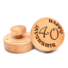 Cookie stamp - Happy birthday! - Woodnectar.com (woodnectar, wood, wooden box, cookie stamp, engraving)