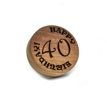 Cookie stamp - Happy birthday! (premium) - Woodnectar.com (woodnectar, wood, wooden box, cookie stamp, engraving)