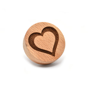 Cookie stamp - Heart Outline - Woodnectar.com (woodnectar, wood, wooden box, cookie stamp, engraving)