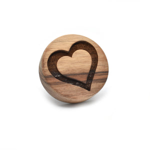 Cookie stamp - Heart Outline (premium) - Woodnectar.com (woodnectar, wood, wooden box, cookie stamp, engraving)