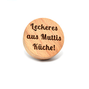 Cookie stamp - Leckeres aus Muttis Kuche! - Woodnectar.com (woodnectar, wood, wooden box, cookie stamp, engraving)