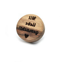 Cookie stamp - Mit liebe gemacht! (premium) - Woodnectar.com (woodnectar, wood, wooden box, cookie stamp, engraving)