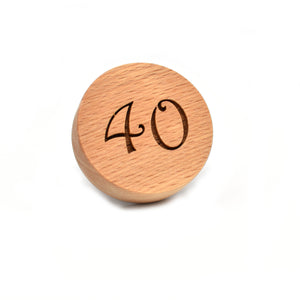 Cookie stamp - Number - Woodnectar.com (woodnectar, wood, wooden box, cookie stamp, engraving)
