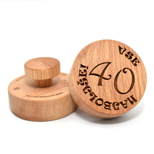 Cookie stamp - Vse najboljše! - Woodnectar.com (woodnectar, wood, wooden box, cookie stamp, engraving)