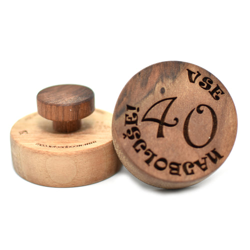 Cookie stamp - Vse najboljše! (premium) - Woodnectar.com (woodnectar, wood, wooden box, cookie stamp, engraving)