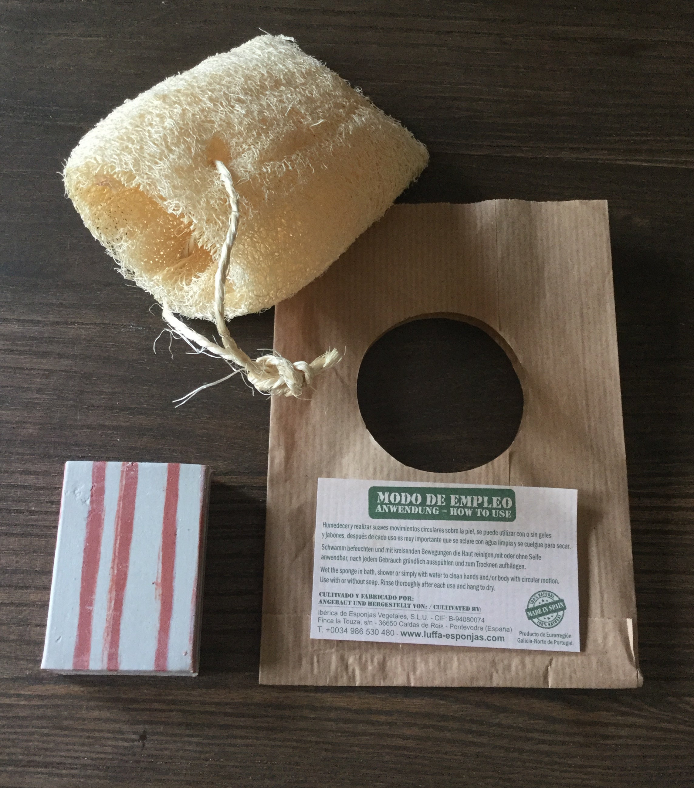 Luffa Soap Pouch, 100% plant based and biodegradable
