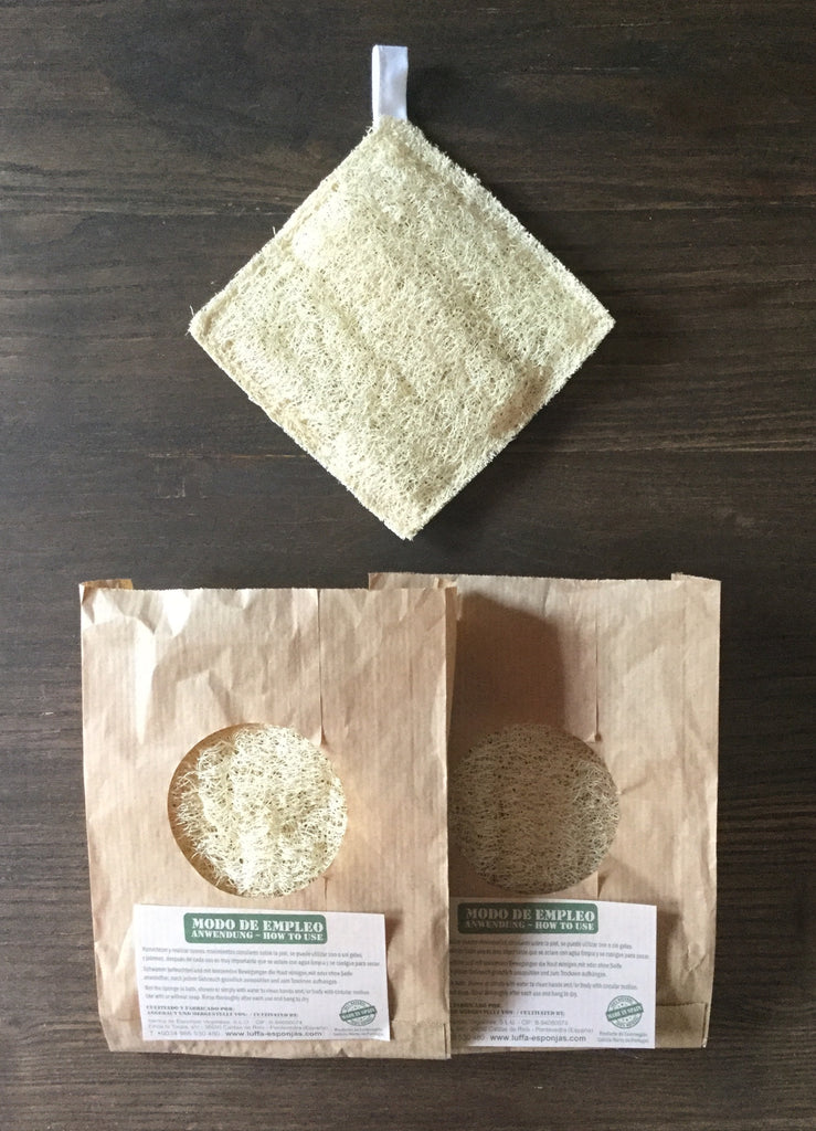 Luffa Square Sponge, for body or cleaning, 100% natural and biodegradable