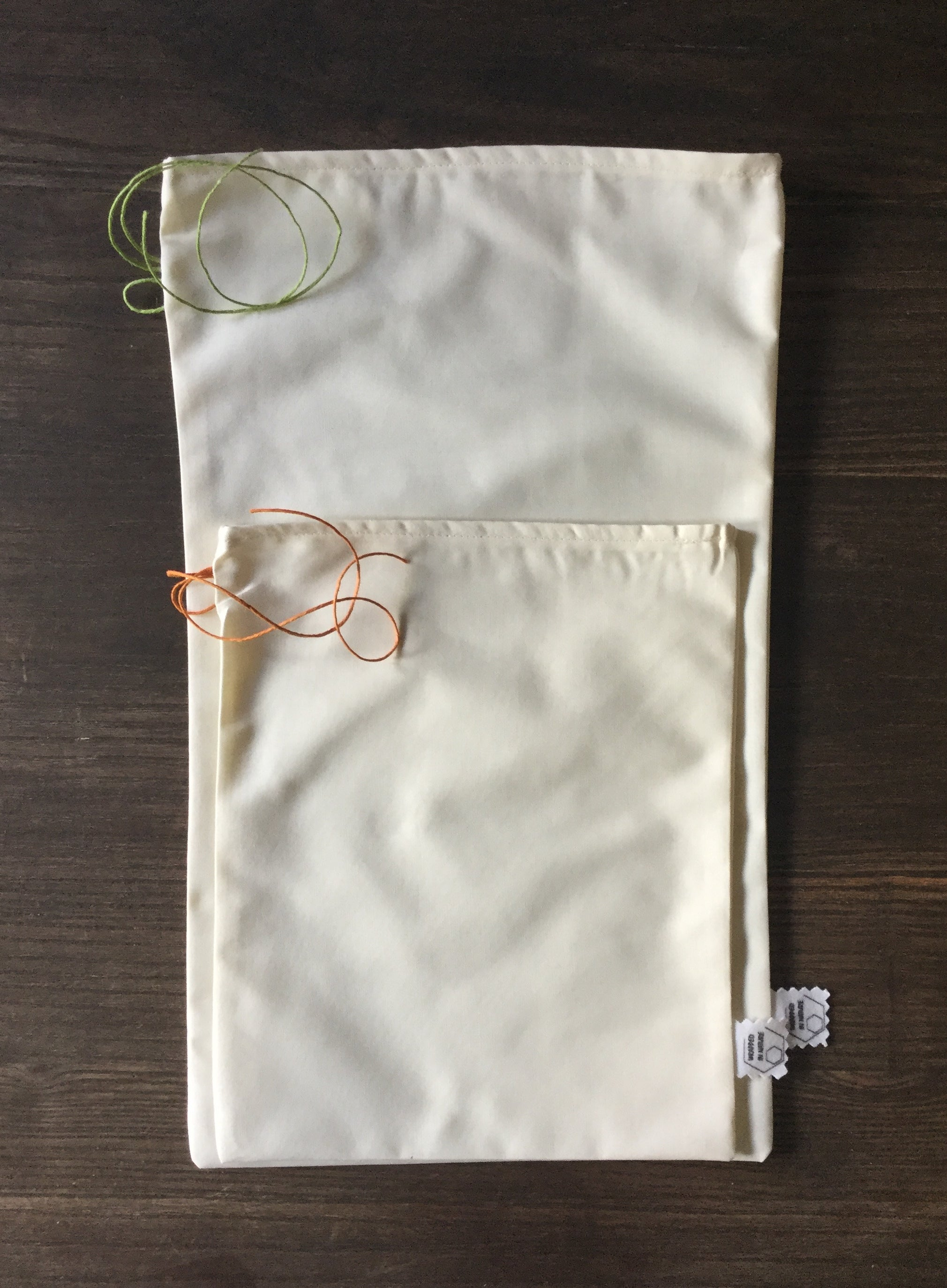 Set of 2 Organic Cotton Produce Bags, neutral
