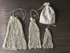 Hemp Produce Sacks DIY Knitting Kit / Kit de tejer Bolsas de Comprar a Granel
