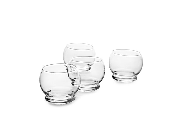 Rocking Glass, Set of 4, Britt Bonnesen, Bibliotek Design Store
