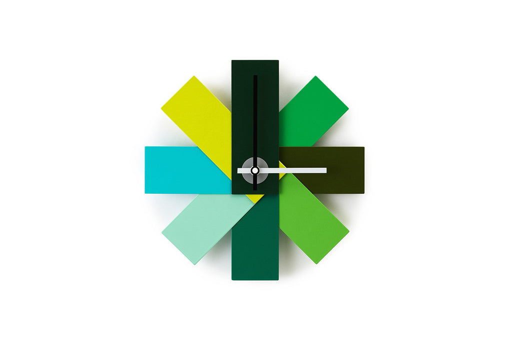 Watch Me Wall Clock, Green, Rasmus Gottliebsen, Bibliotek Design Store