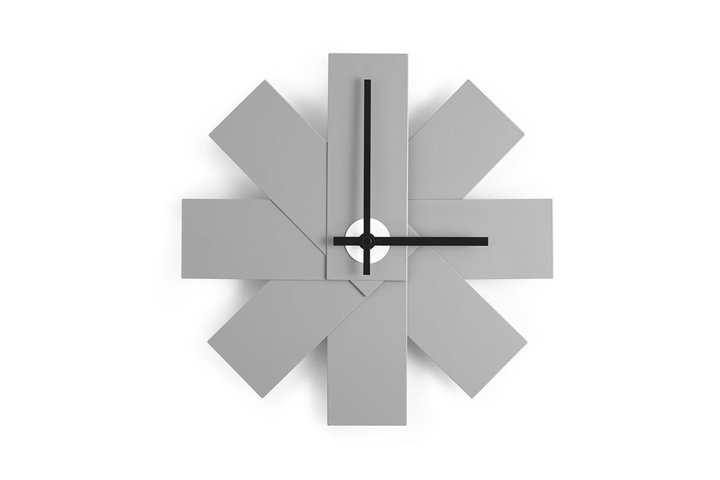 Watch Me Wall Clock, Grey, Rasmus Gottliebsen | Buy Online | Bibliotek Design Store