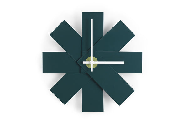Watch Me Wall Clock, Petrol Green, Rasmus Gottliebsen | Buy Online | Bibliotek Design Store