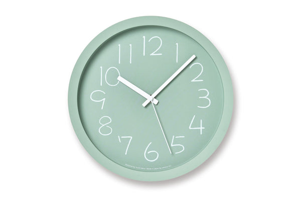 Lemnos Chalk Wall Clock, Green | Wall Clocks Online | Bibliotek Design