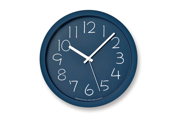 Lemnos Chalk Wall Clock, Navy | Wall Clocks Online | Bibliotek Design