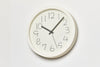 Lemnos Chalk Wall Clock, White Mood | Wall Clocks Online | Bibliotek Design