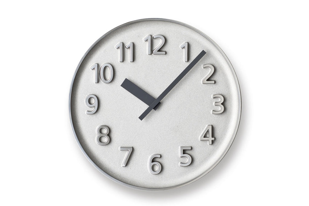 Lemnos Founder Wall Clock, Aluminum | Wall Clocks Online | Bibliotek