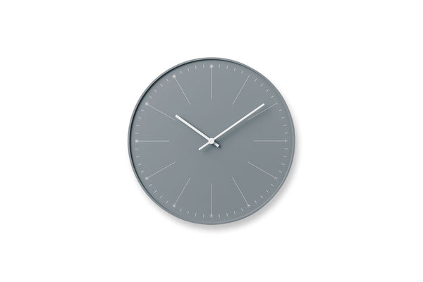 Lemnos Dandelion Wall Clock, Grey | Wall Clocks Online | Bibliotek