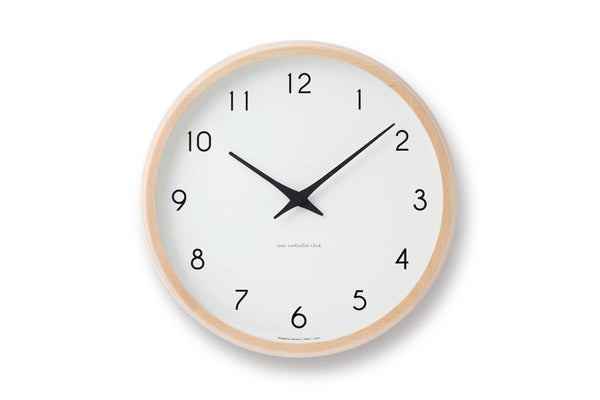 Lemnos Campagne Wall Clock Natural | Wall Clocks Online | Bibliotek