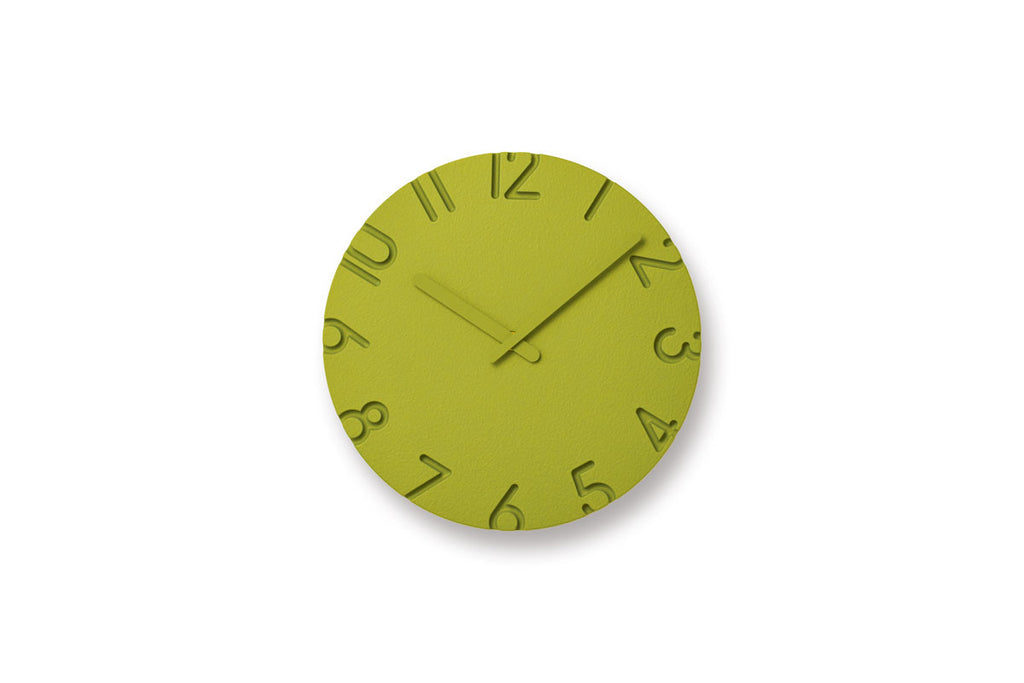 Lemnos Carved Colored Wall Clock Green | Wall Clocks Online| Bibliotek