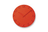 Lemnos Carved Colored Wall Clock Orange |Wall Clocks Online |Bibliotek