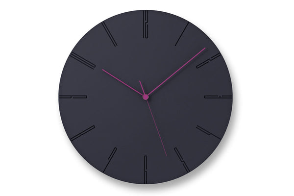 Carved II Wall Clock, Black | Wall Clocks Online | Bibliotek Furniture