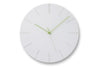 Carved II Wall Clock, White | Wall Clocks Online | Bibliotek Furniture