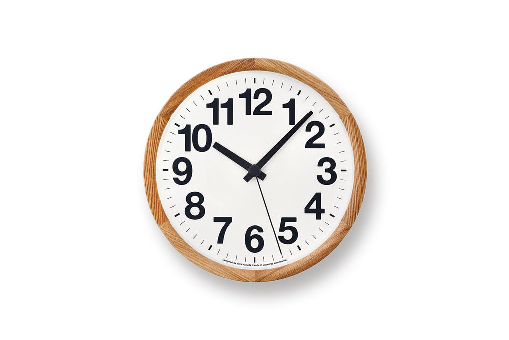 Lemnos Clock A Natural | Wall Clocks Online | Bibliotek Singapore