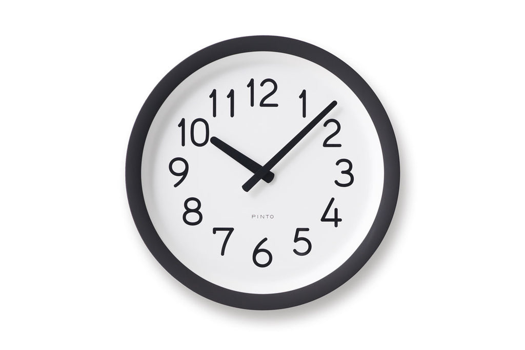 Lemnos Day to Day Wall Clock Black | Wall Clocks Online | Bibliotek