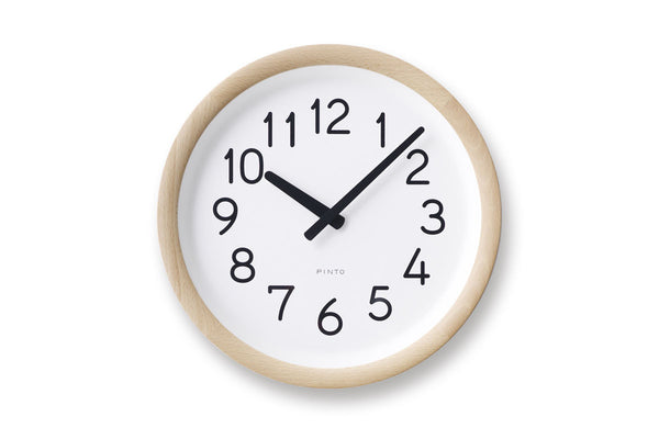 Lemnos Day to Day Wall Clock Natural | Wall Clocks Online | Bibliotek