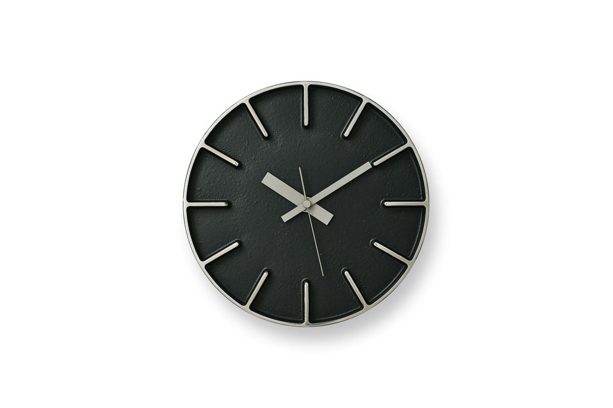 Lemnos Edge Wall Clock Black