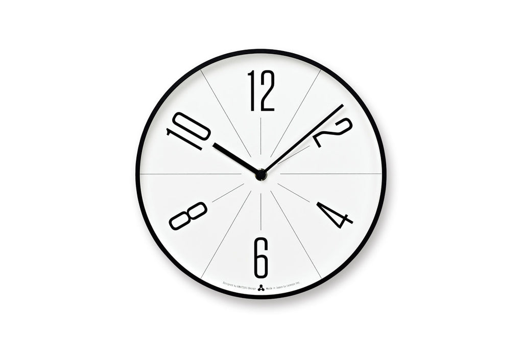 Lemnos GUGU Wall Clock, Black | Wall Clocks Online | Bibliotek