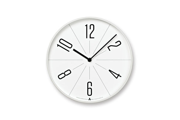 Lemnos GUGU Wall Clock White | Wall Clocks Online | Bibliotek