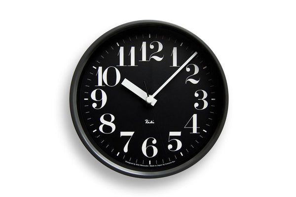 Lemnos Riki Steel Wall Clock II Black | Wall Clocks Online | Bibliotek