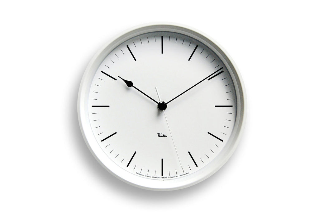 Lemnos Riki Steel Wall Clock I White | Wall Clocks Online | Bibliotek