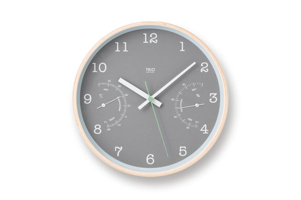 Lemnos TRIO Wall Clock, Grey | Wall Clocks Online | Bibliotek Design