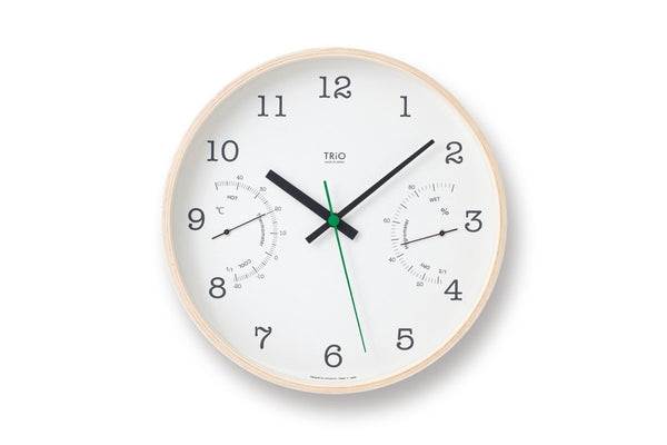 Lemnos TRIO Wall Clock White | Wall Clocks Online | Bibliotek Design