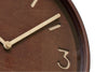 Lemnos Thomson Wall Clock, Brown  | Wall Clocks Online | Bibliotek
