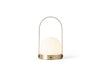 MENU Carrie LED Lamp Brushed Brass - Front | Desk & Table Lamps | Bibliotek