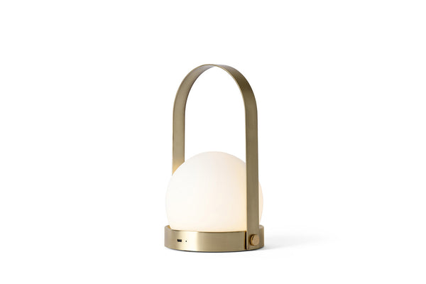 MENU Carrie LED Lamp Brushed Brass - Lighted | Desk & Table Lamps | Bibliotek