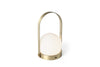 MENU Carrie LED Lamp Brushed Brass - Angle | Desk & Table Lamps | Bibliotek