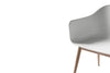 MENU Harbour Chair Light Grey with Oak Close Up | Chairs & Furniture | Bibliotek